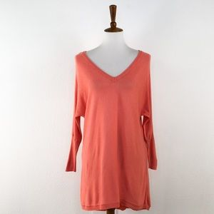 A.n.a Coral Oversize V Neck Long Sleeve Sweater